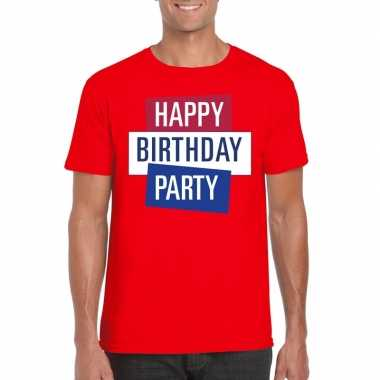 Goedkoop toppers rood toppers happy birthday party heren t shirt offi