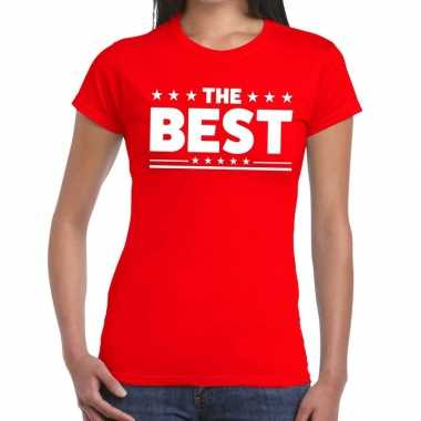Goedkoop toppers the best tekst t shirt rood dames carnavalskleding
