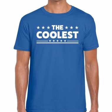Goedkoop toppers the coolest heren t shirt blauw carnavalskleding