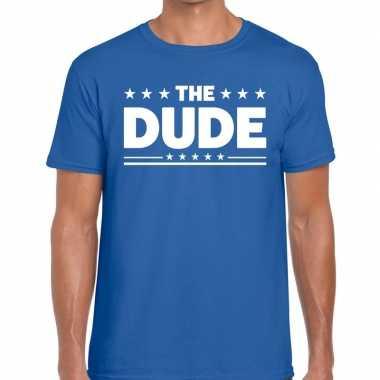 Goedkoop toppers the dude heren t shirt blauw carnavalskleding