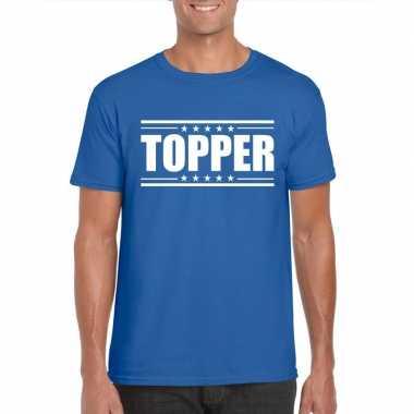 Goedkoop toppers topper t shirt blauw heren carnavalskleding
