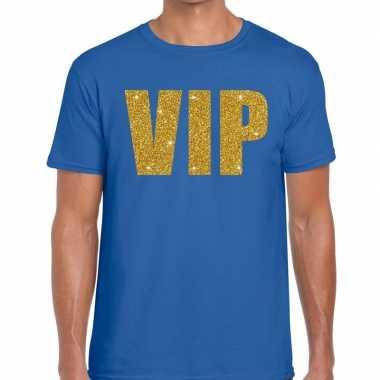 Goedkoop toppers vip heren t shirt blauw carnavalskleding
