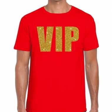 Goedkoop toppers vip heren t shirt rood carnavalskleding