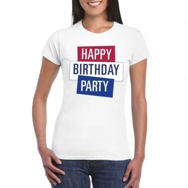 Goedkoop toppers wit toppers happy birthday party dames t shirt offic