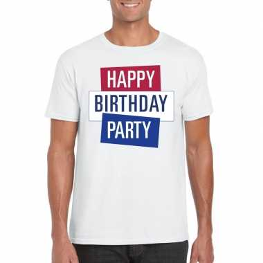 Goedkoop toppers wit toppers happy birthday party heren t shirt offic