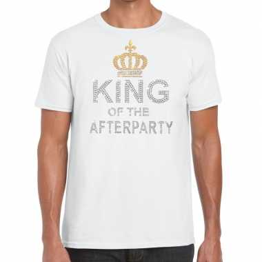 Goedkoop toppers wit toppers king of the afterparty glitter t shirt h