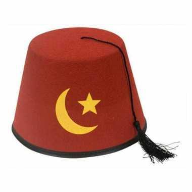 Goedkoop  Turks hoedje rood carnavalskleding