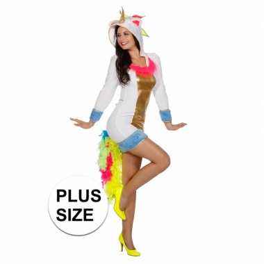 Goedkoop unicorn verkleedjurk dames plus size carnavalskleding