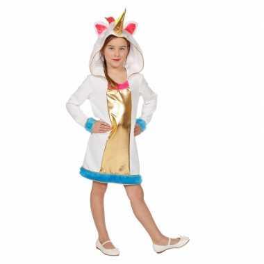 Goedkoop unicorn verkleedjurk meisjes carnavalskleding