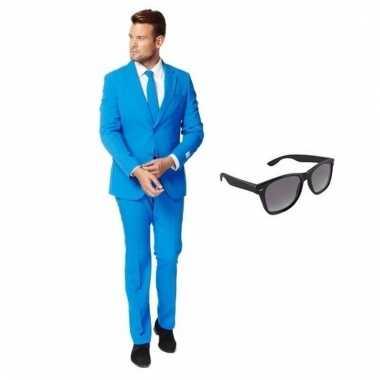 Goedkoop verkleed blauw net heren carnavalskleding maat (xl) gratis z