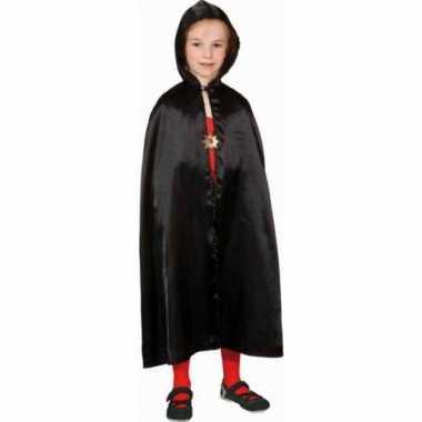 Goedkoop verkleed cape zwart kinderen carnavalskleding