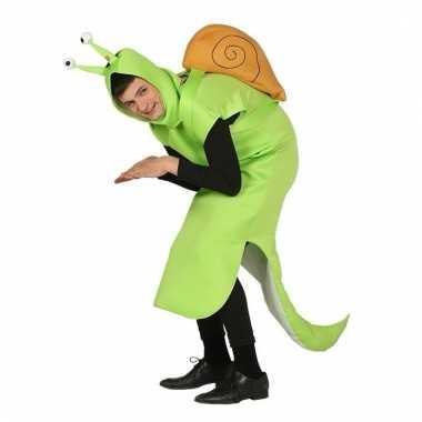 Goedkoop verkleed carnavalskleding slak huisje