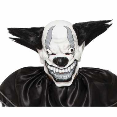 Goedkoop verkleed eng zwarte clown masker latex carnavalskleding