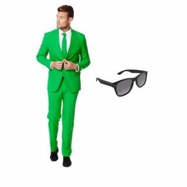 Goedkoop verkleed groen net heren carnavalskleding maat (s) gratis zo