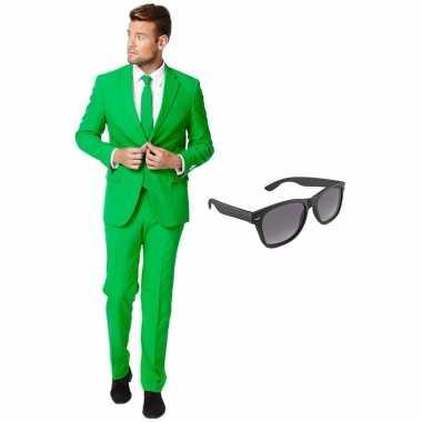 Goedkoop verkleed groen net heren carnavalskleding maat (xxxl) gratis