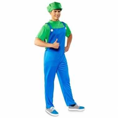 Goedkoop verkleed groene loodgieter carnavalskleding heren