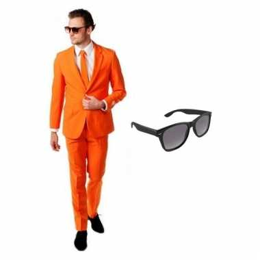 Goedkoop verkleed oranje net heren carnavalskleding maat (s) gratis z