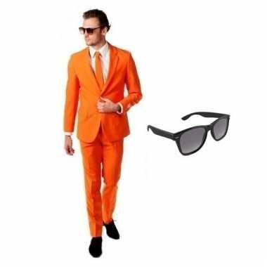 Goedkoop verkleed oranje net heren carnavalskleding maat (xl) gratis