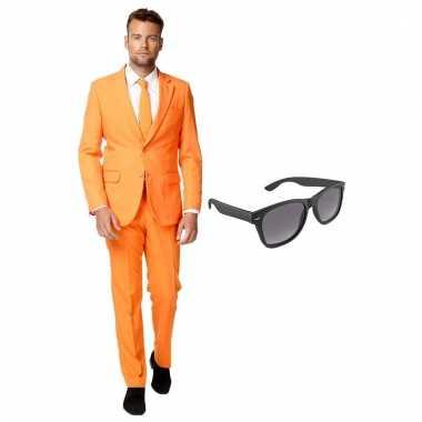 Goedkoop verkleed oranje net heren carnavalskleding maat (xxl) gratis