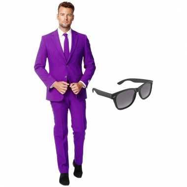 Goedkoop verkleed paars net heren carnavalskleding maat (xxxl) gratis