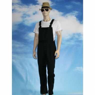 Goedkoop verkleed tuinbroek zwart volwassenen carnavalskleding