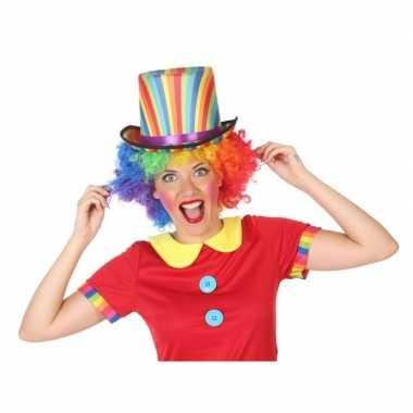 Goedkoop verkleedaccessoires hoge hoed clown volwassenen carnavalskle