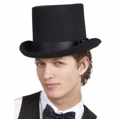 Goedkoop verkleedaccessoires zwarte hoge hoed carnavalskleding