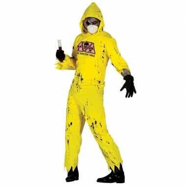 Goedkoop verkleedcarnavalskleding radioactieve zombie heren