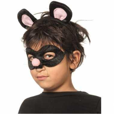 Goedkoop verkleedpartij setje rat kinderen carnavalskleding