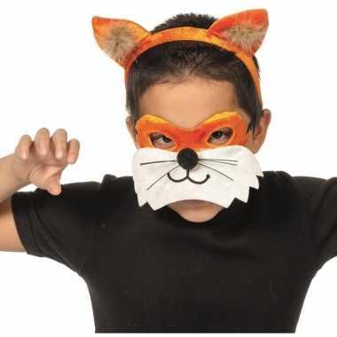 Goedkoop verkleedpartij setje vos kinderen carnavalskleding