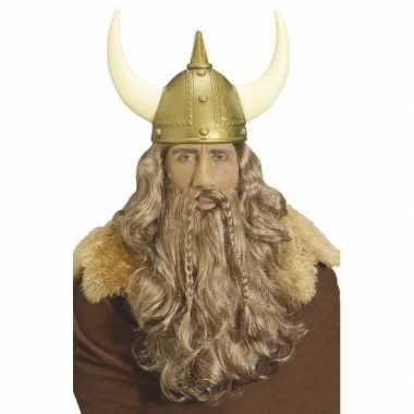 Goedkoop  Vikingen pruik baard snor carnavalskleding