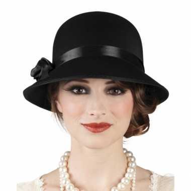 Goedkoop  Vintage dames hoeden zwart carnavalskleding