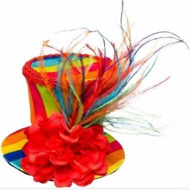 Goedkoop vintage zwarte hoedje tule carnavalskleding