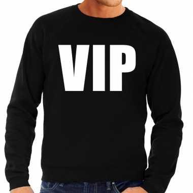 Goedkoop vip tekst sweater / trui zwart heren carnavalskleding