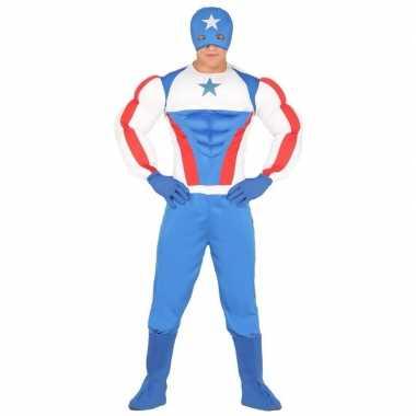 Goedkoop voor superhelden verkleedcarnavalskleding amerika volwassene