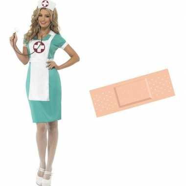 Goedkoop voor verpleegster verkleed carnavalskleding maat / gratis st
