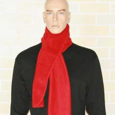 Goedkoop warme fleece sjaals rood carnavalskleding
