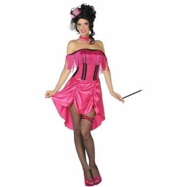 Goedkoop western bordeel prostituee verkleed jurk roze dames carnaval