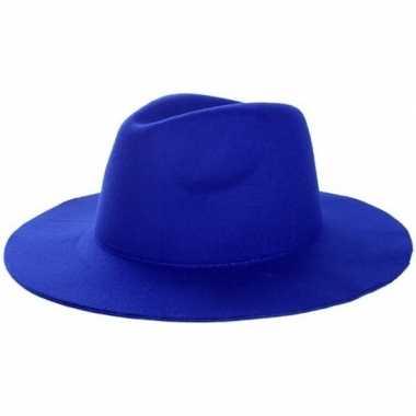 Goedkoop western thema sherriff cowboy hoed blauw dames heren carnavalskleding