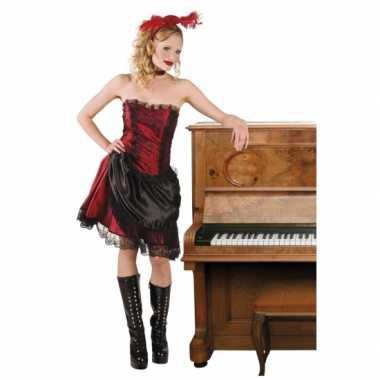 Goedkoop wild west carnavalskledings saloon girl
