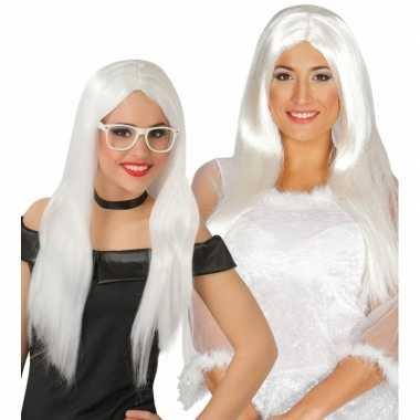 Goedkoop witte engel pruik dames carnavalskleding