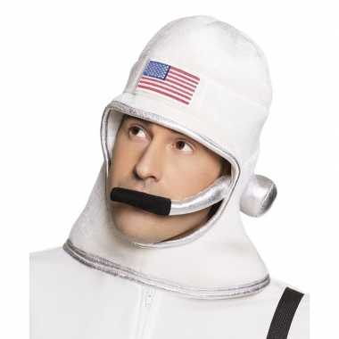 Goedkoop witte ruimte helm volwassenen carnavalskleding