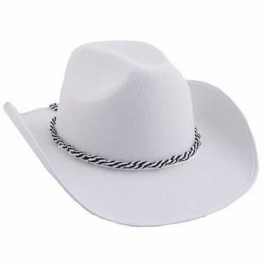 Goedkoop witte western hoed carnavalskleding
