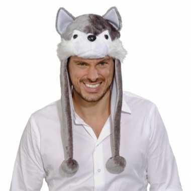 Goedkoop wolf feestmuts volwassenen carnavalskleding