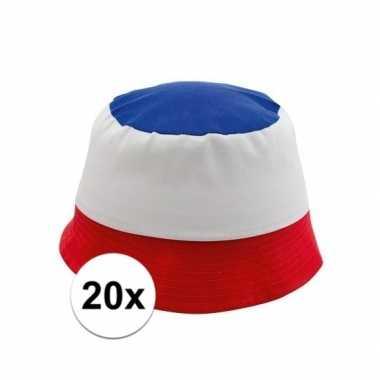 Goedkoop x franse supporters hoedjes carnavalskleding