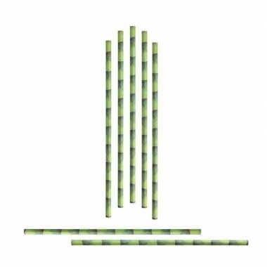 Goedkoop x papieren rietjes bamboestengel carnavalskleding 10162309