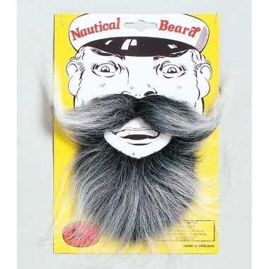 Goedkoop zeemans baard snor carnavalskleding