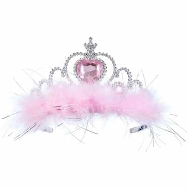 Goedkoop zilver roze tiara meisjes carnavalskleding