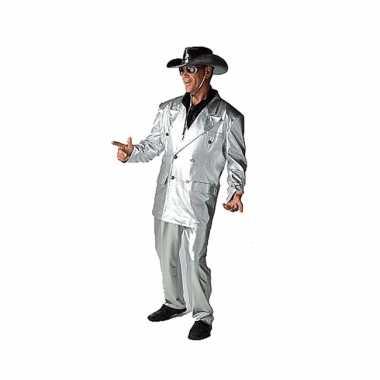 Goedkoop zilveren verkleed carnavalskleding