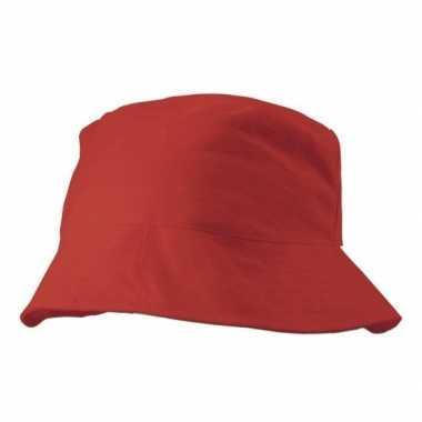 Goedkoop zonnehoedje rood carnavalskleding